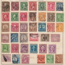 (U53-18) 1908-40 USA mix of 39stamps values to 50c (R)