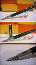Stylo Picasso 916 Green Electric Fountain Pen - Stilografica NIb France siz M