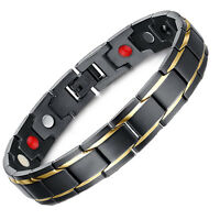 TITANIUM Anion Magnetic Energy Anti-aging Power Bracelet Health 4in1 Bio Armband
