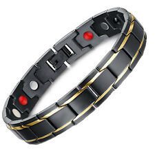4 in1 Bio TITANIUM Magnetic Energy Germanium men Armband Power Bracelet Health