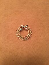 Vintage Gerry's Signed Gold Tone Red Green Berries Holiday Wreath Brooch Pin
