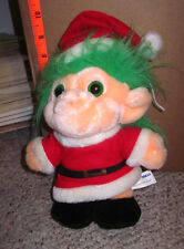 TROLIO TROLL Christmas plush Santa Claus doll 1992 toy Wishniks retro 1960s fad