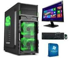 gamer pc game komplett Set mit monitor TFT Computer Rechner AMD FX 6300 8GB RAM