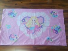 1996 Pretty in Pink Barbie in a Ruffled Heart with Floral Design Pillowcase