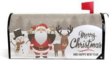 senya Home Garden Christmas Deer Pattern Magnetic Mailbox Cover Standard