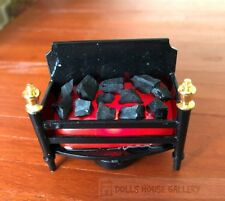 Flickering Coal Fireplace LED, Dolls House Miniatures