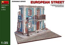 MiniArt Models 1/35 European Street (Ruined Building+Diorama Base)