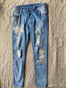 Ausgefallene Jeans Gr.S! Hippie, Vintage Boho Style! TOP!