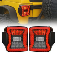 Rear Smoke Tail lights for 07-18 Jeep Wrangler JK JKU Rubicon Sahara Sport Pair