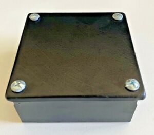 Black Electrical Junction Adaptable Metal Box Boxes 100 x 100 x 50mm