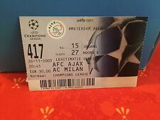 Football Ticket - AFC Ajax - AC Milan - Champions League 2003