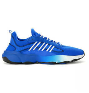 Adidas Men's Sneakers Haiwee ~Glow Blue/Cloud White/Core Black EF4445~ NIB 11.5