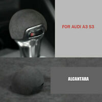 For Audi A3 8V S3 2014 - 2020 Alcantara Gear Shift Knob Cover Sticker Trim Gray