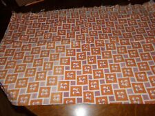 """orange, cream and tan feed sack material/fabric 43"""" by 38"""""""