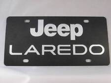 Jeep Laredo Stainless Steel 3d Laser License Plate