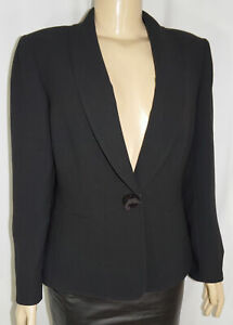 TAHARI Arthur Levine NEW $195 Blazer - Women 10P Black Shawl Suit Jacket NWOT
