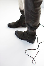 COCLICO SHOES RAIL BOOT ANTHRACITE GRAY ANKLE BOOTIES $425 NEW NIB 40
