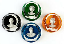 Baccarat (France) The Royal Family Cameos In Crystal Paperweights c.1976