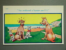 R&L Postcard: Brook Publishing, 12033 Dogs, Dalmation Type Puppies Fountain Pen