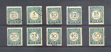 CURACAO 1948/49 -# PD - 34/43 --CV € 255 - USED F/VF -STAINS
