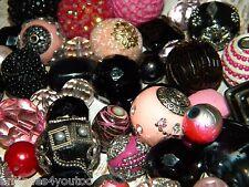 NEW 25/Pcs Black/Pink's Jesse James mixed beads randomly pick lot  Free shipping