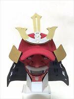 Samurai Armor Cap with Mask MOURI MOTONARI Kabuto Helmet Japan Cosplay F/S