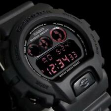 CASIO G-SHOCK, DW6900MS-1 DW-6900MS-1, RED EYE, ALL MILITARY ARMY MATTE BLACK