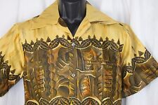 Vtg Casual Ceire Reef Towers Shirt Hawaiian Tiki Oasis Vlv Viva Nos Deadstock S