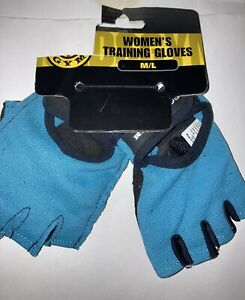 Gold's Gym Women's Gloves Teal Blue Black Size-M/L New With Tags