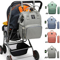 LEQUEEN Diaper Bag Mummy Nursing Backpack Waterproof USB Charging Large Capacity