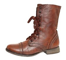 Steve Madden Troopa Leather Boot Brown Women Sz 8 M 4020 *
