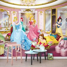 Niña Dormitorio Papel Pintado Foto Mural Fotomural Princesa Disney 366x254cm
