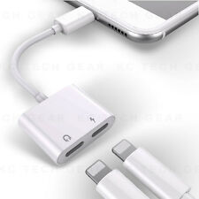 iPhone 2 in 1 Dual Lightning Audio Charge Adapter Double Headphone Splitter Cord