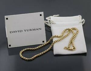 DAVID YURMAN 18K SOLID GOLD 16 Inches, 3.6mm BOX CHAIN NECKLACE