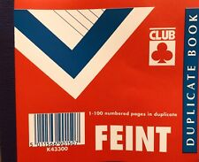 Duplicate Memo Book 100 Pages Ruled Faint 106.5 x 125.5mm Fast Dispatch. by CLUB