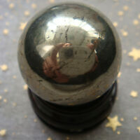Hot Cute 30mm Polished Solid Natural Pyrite Stone Crystal Sphere Ball Healing
