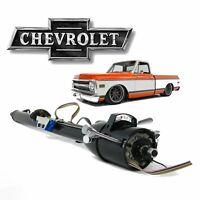 "67-72 Chevy Truck 33"" Black TILT STEERING COLUMN SHIFT Keyed k10 C10 350 2wd 4wd"