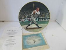 Bradford Exchange Collector Plate Babe Ruth: The Called Shot #15170A Coa