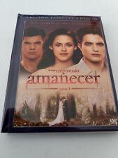 """DVD """"AMANECER PARTE 1"""" 2 DVD DIGIBOOK LIBRO EDICION ESPECIAL CREPUSCULO ROBERT P"""