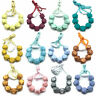 Hexagon Silicone Beads Teething Necklace Baby Chewable Sensory Teether Jewelry