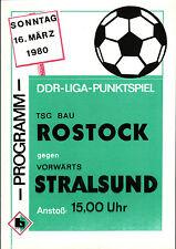 DDR-Liga 79/80 TSG construcción rostock-hacia adelante Stralsund, 16.03.1980
