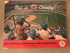 RARE St Louis Cardinals New York Mets 1971 Program Bob Gibson Shutout Shea MLB