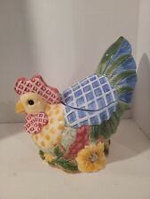 Fitz & Floyd Just Us Chicks Canister Cookie Jar