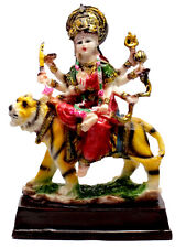 Indian Hand Carved Hindu Goddess Durga Resin Idol Sculpture Statue 7 Inches