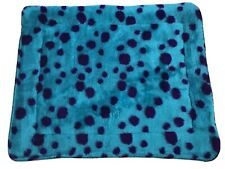 FLEECE DOG OR CAT MAT IN AQUA - MACHINE WASHABLE MEDIUM 37' X 29' COSY DOG BED