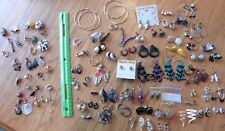 Earrings Wholesale lot of Vintage hoops studs Retro clip on beads dangle Costume