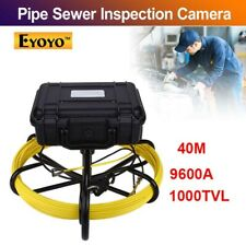 Eyoyo 9600A Pipeline Drain Sewer Inspection Camera System 40M 9inch IP68 1000TVL