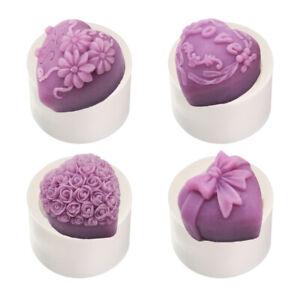 Blume Clay Tool 3D Schokoladenform Silicon Mold Molde von Kuchen Candle Mould