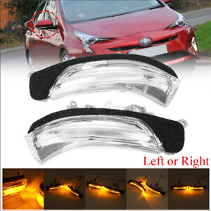 2x LED Side Wing Mirror Indicator Light For TOYOTA PRIUS WISH CROWN AVALON