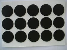Lote de 1000 tapa tornillos adhesivos en negro diámetro 13mm